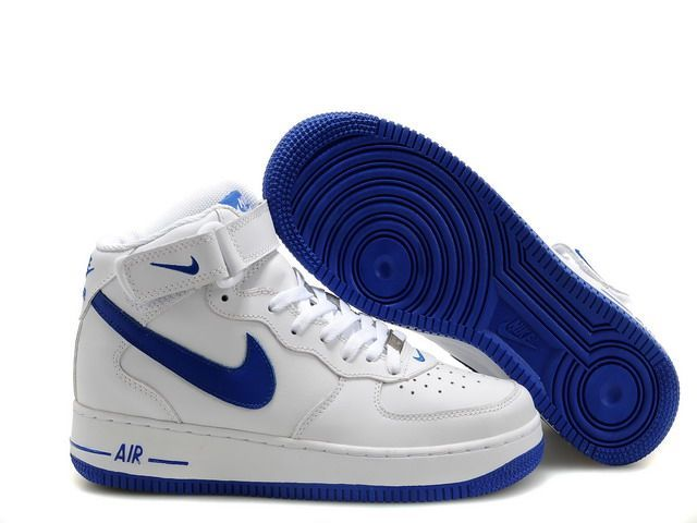 nike air force one blanche bleu